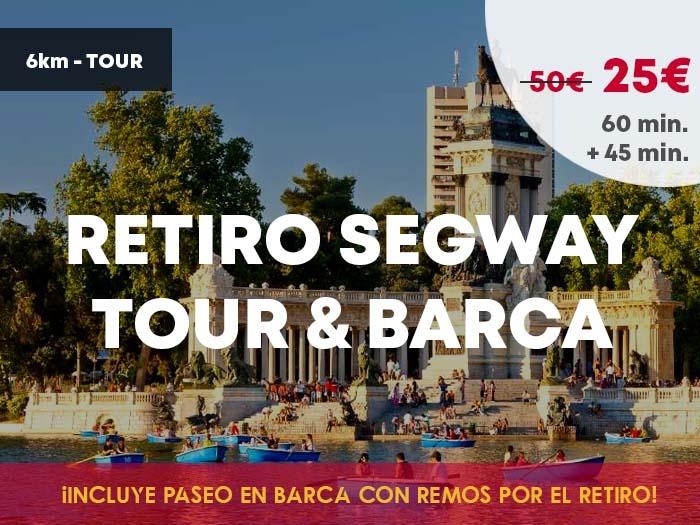 Segway Madrid Retiro + paseo en barca   Retiro Mágico