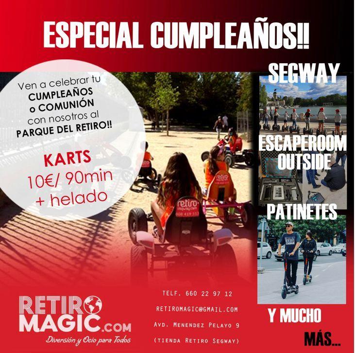 Cumpleaños infantiles Madrid | Retiro Mágico
